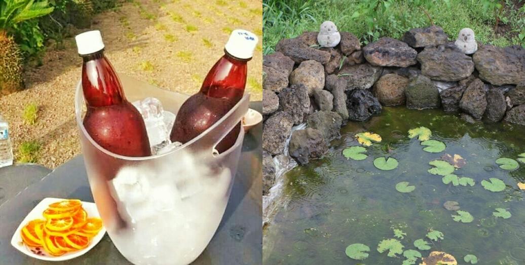 수제맥주, 야외 연못