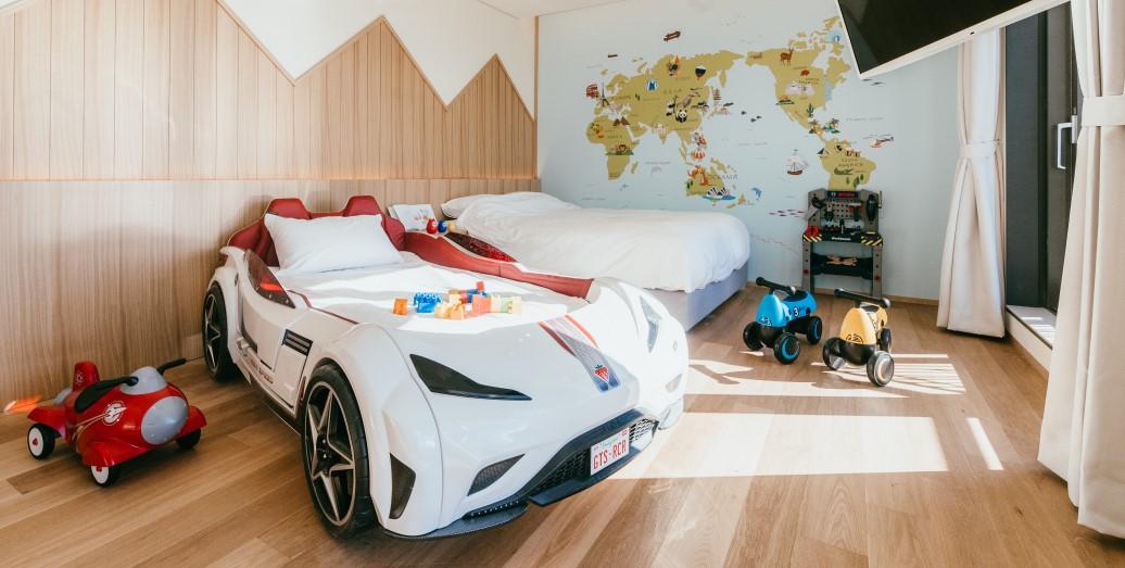 키즈 자동차 침대