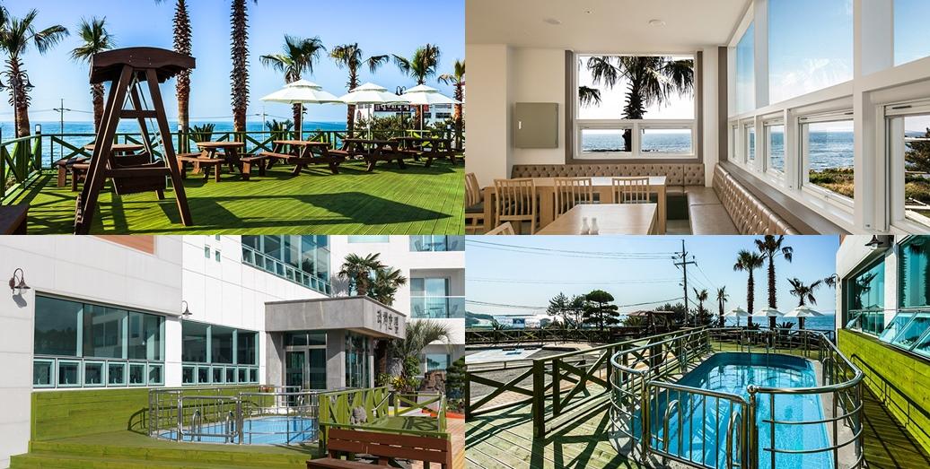 리치호텔 부대시설- 테라스,식당, 야외수영장